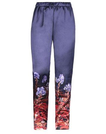 Dries van Noten  38 Damen Violett Hose Baumwolle, Viskose blau