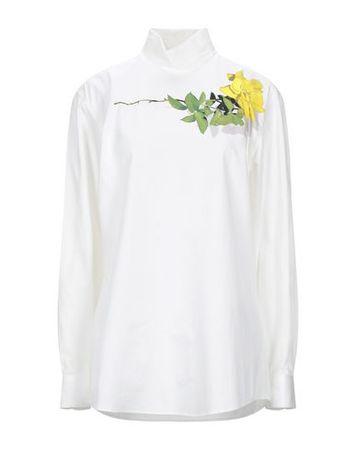Dries van Noten  38 Damen Weiß Bluse Baumwolle braun