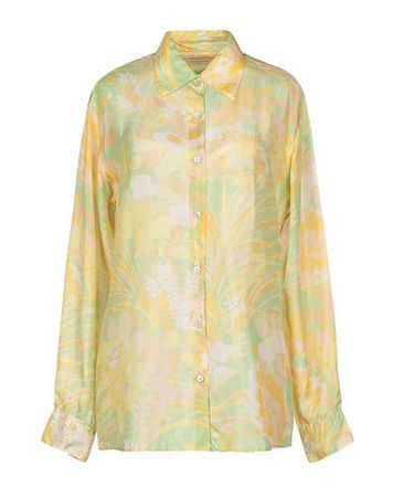 Dries van Noten  40 Damen Gelb  Hemd Seide orange
