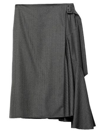 Dries van Noten  40 Damen Grau Maxirock Wolle grau