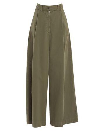 Dries van Noten  40 Damen Militärgrün Hose Baumwolle grau