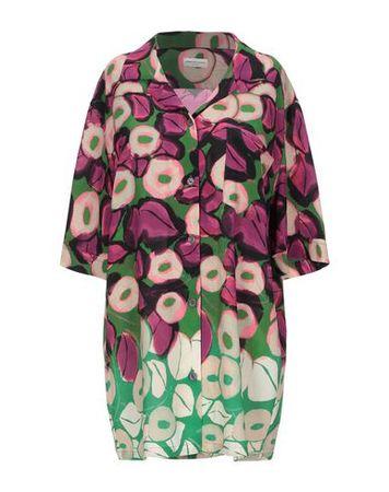 Dries van Noten  40 Damen Orange  Hemd Polyester, Elastan pink