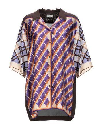 Dries van Noten  40 Damen Violett  Hemd Seide