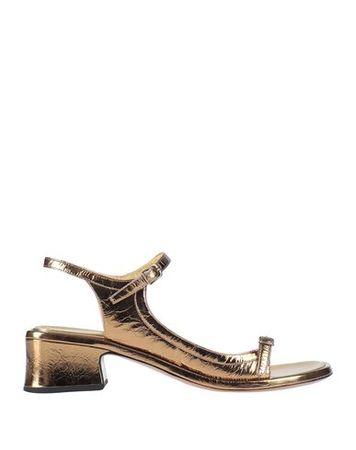Dries van Noten  41 Damen Bronze Sandale Leder