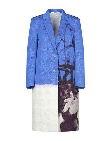 Dries van Noten  42 Damen Blau Mantel Viskose, Baumwolle, Polyester, Polyamid blau