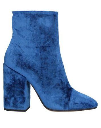 Dries van Noten  Damen Azurblau Stiefelette Gewebefasern blau
