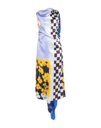 Dries van Noten  Damen Blau Langes Kleid Seide blau
