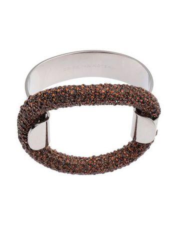 Dries van Noten  -- Damen Bordeaux Armband Metall, Swarovski grau