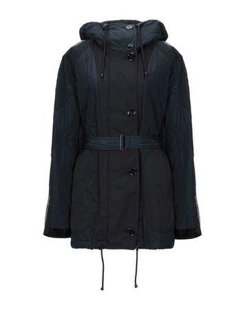 Dries van Noten  Damen Dunkelblau Mantel Polyester, Baumwolle, Polyamid schwarz