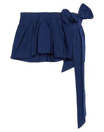 Dries van Noten  Damen Dunkelblau Minirock Polyester, Seide grau