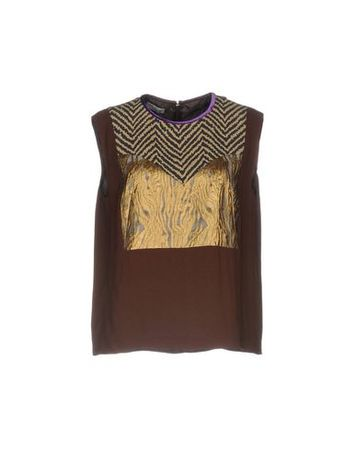 Dries van Noten  Damen Dunkelbraun Top Viskose braun