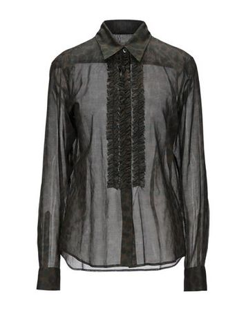 Dries van Noten  Damen Dunkelgrün  Hemd Baumwolle