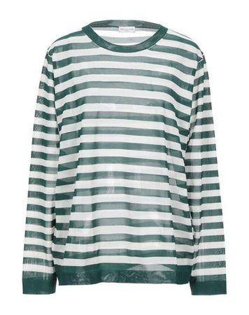 Dries van Noten  Damen Dunkelgrün Pullover Polyester grau