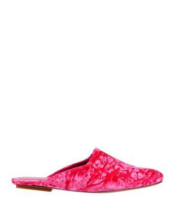Dries van Noten  Damen Fuchsia Mules & Clogs Gewebefasern pink