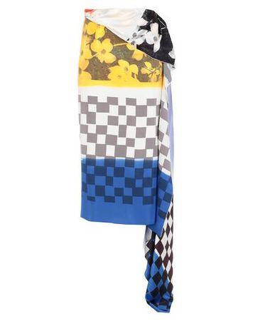 Dries van Noten  Damen Gelb Maxirock Seide blau