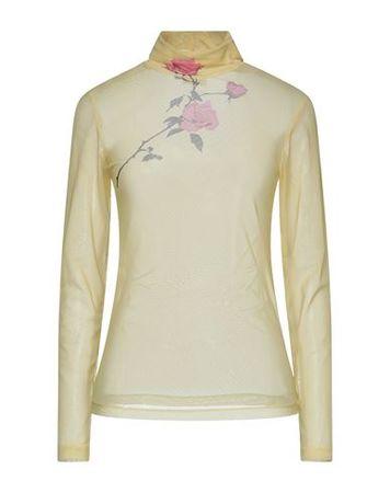 Dries van Noten  Damen Gelb T-shirts Polyamid, Elastan