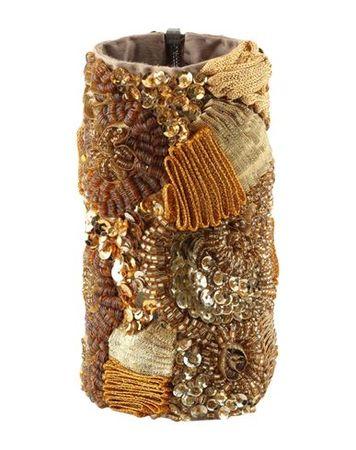 Dries van Noten  -- Damen Gold Armband Gewebefasern