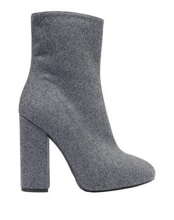 Dries van Noten  Damen Grau Stiefelette Leder, Gewebefasern grau