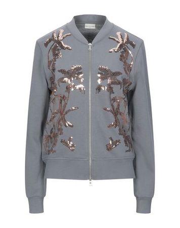 Dries van Noten  Damen Grau Sweatshirt Baumwolle grau
