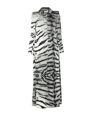 Dries van Noten  Damen Grün Lange Jacke Viskose, Baumwolle, Metallfaser grau