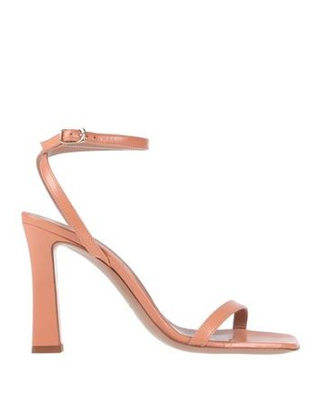 Dries van Noten  Damen Hellrosa Sandale Leder orange