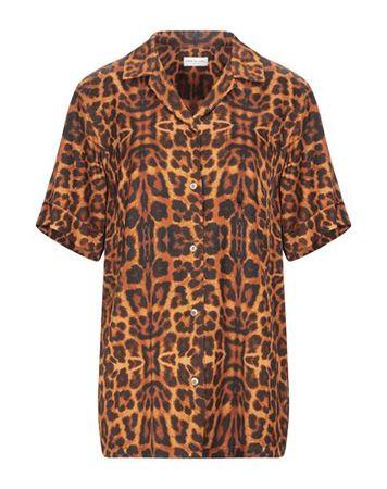 Dries van Noten  Damen Orange  Hemd Viskose braun