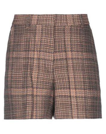 Dries van Noten  Damen Sand Shorts Baumwolle, Leinen, Polyester, Polyamid braun