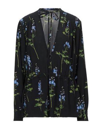 Dries van Noten  Damen Schwarz Bluse Polyester, Elastan schwarz