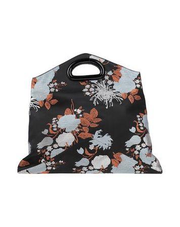 Dries van Noten  -- Damen Schwarz Handtaschen Gewebefasern, Leder schwarz