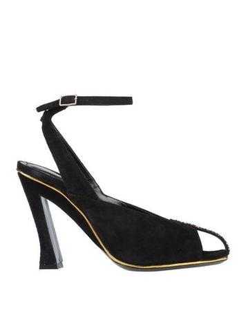 Dries van Noten  Damen Schwarz Sandale Leder