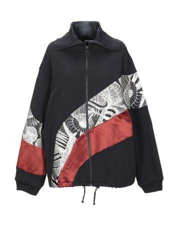 Dries van Noten  Damen Schwarz Sweatshirt Baumwolle, Polyester, Polyamid, Acetat