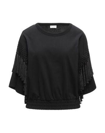 Dries van Noten  Damen Schwarz Sweatshirt Baumwolle schwarz