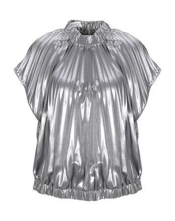 Dries van Noten  Damen Silber Bluse Polyester grau