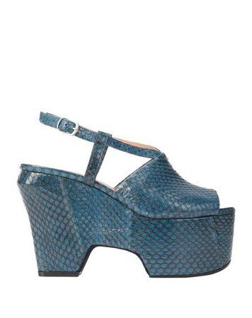 Dries van Noten  Damen Taubenblau Sandale Leder grau