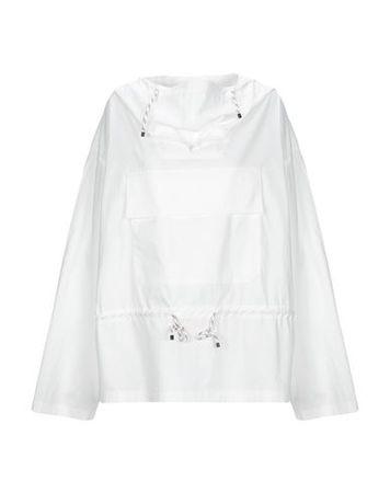 Dries van Noten  Damen Weiß Bluse Baumwolle grau