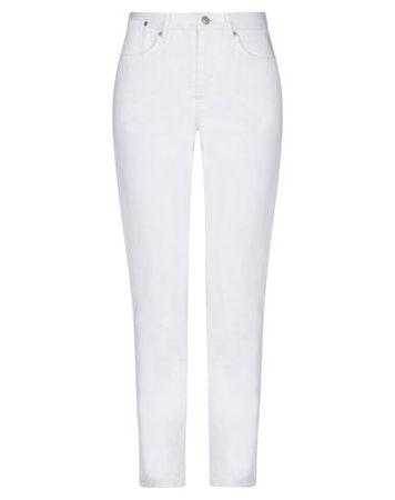 Dries van Noten  Damen Weiß Jeanshose Baumwolle grau