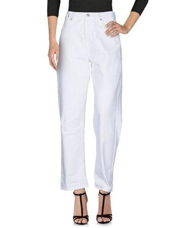 Dries van Noten  Damen Weiß Jeanshose Baumwolle lila
