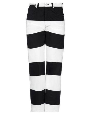 Dries van Noten  Damen Weiß Jeanshose Baumwolle schwarz