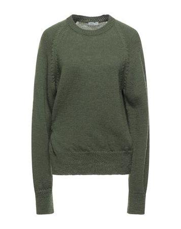 Dries van Noten  L Damen Militärgrün Pullover Wolle