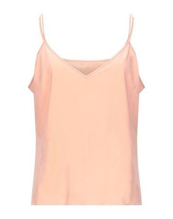 Dries van Noten  L Damen Pfirsich Top Polyester, Lycra® orange