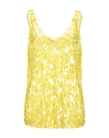 Dries van Noten  M Damen Gelb Top Polyester orange