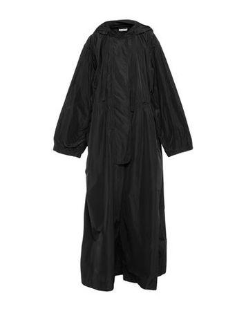 Dries van Noten  M Damen Schwarz Lange Jacke Polyester schwarz