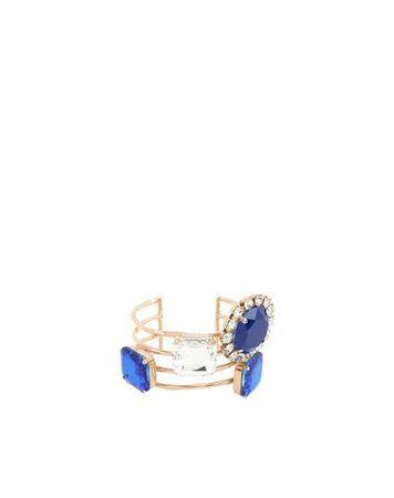 Dries van Noten  S Damen Blau Armband Messing, Glas braun