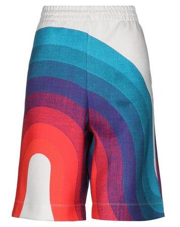 Dries van Noten  S Damen Elfenbein Bermudashorts Polyester, Elastan rot