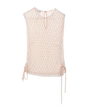 Dries van Noten  S Damen Nude Top Polyester braun