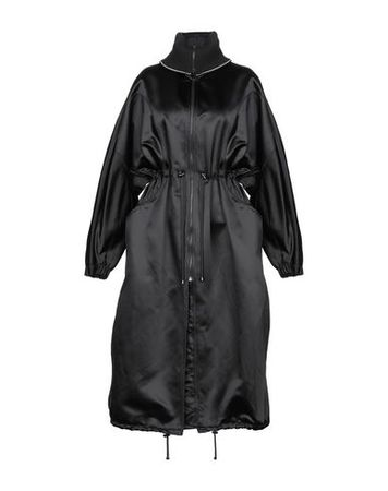 Dries van Noten  XS Damen Ziegelrot Lange Jacke Polyamid, Acetat grau