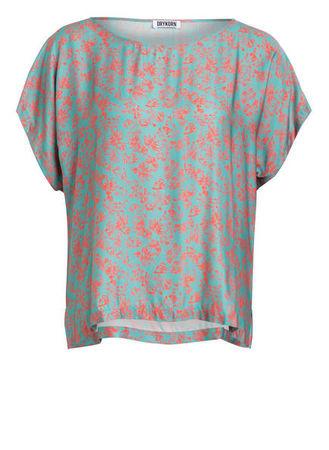 Drykorn  Blusenshirt Somia gruen braun