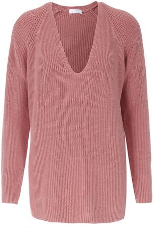 Drykorn  Gerippter Pullover mit Baumwolle Rosé Damen Farbe: rosa verfügbare Größe: XS|S|M|L rot