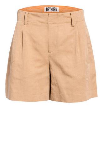 Drykorn  Shorts Asset Mit Leinen braun orange