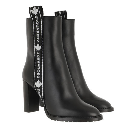 Dsquared2  Boots & Stiefeletten - Logo Band Ankle Boots - in black - für Damen grau